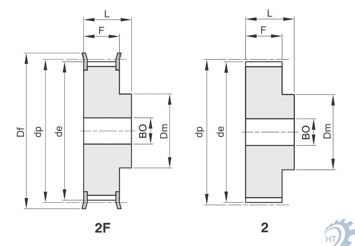 Zahnriemenscheibe Zahnscheibe HTD 18-5M-15