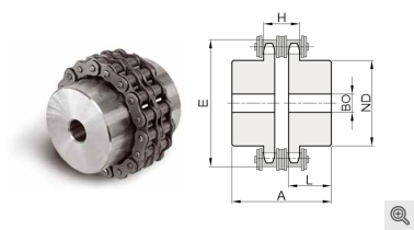 Kettenkupplung-Zeichnung von HolTech Antriebstechnik