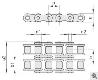 Rollenketten zweifach/duplex