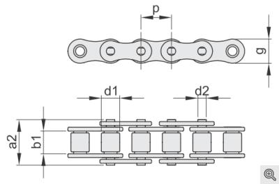 Rollenketten einfach/simplex